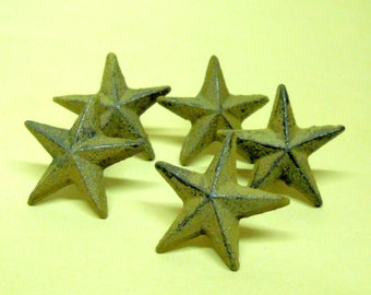"40 pc Wholesale Set Cast Iron Nail Stars 2"" wide w/ Nail in the back for easy attachment"