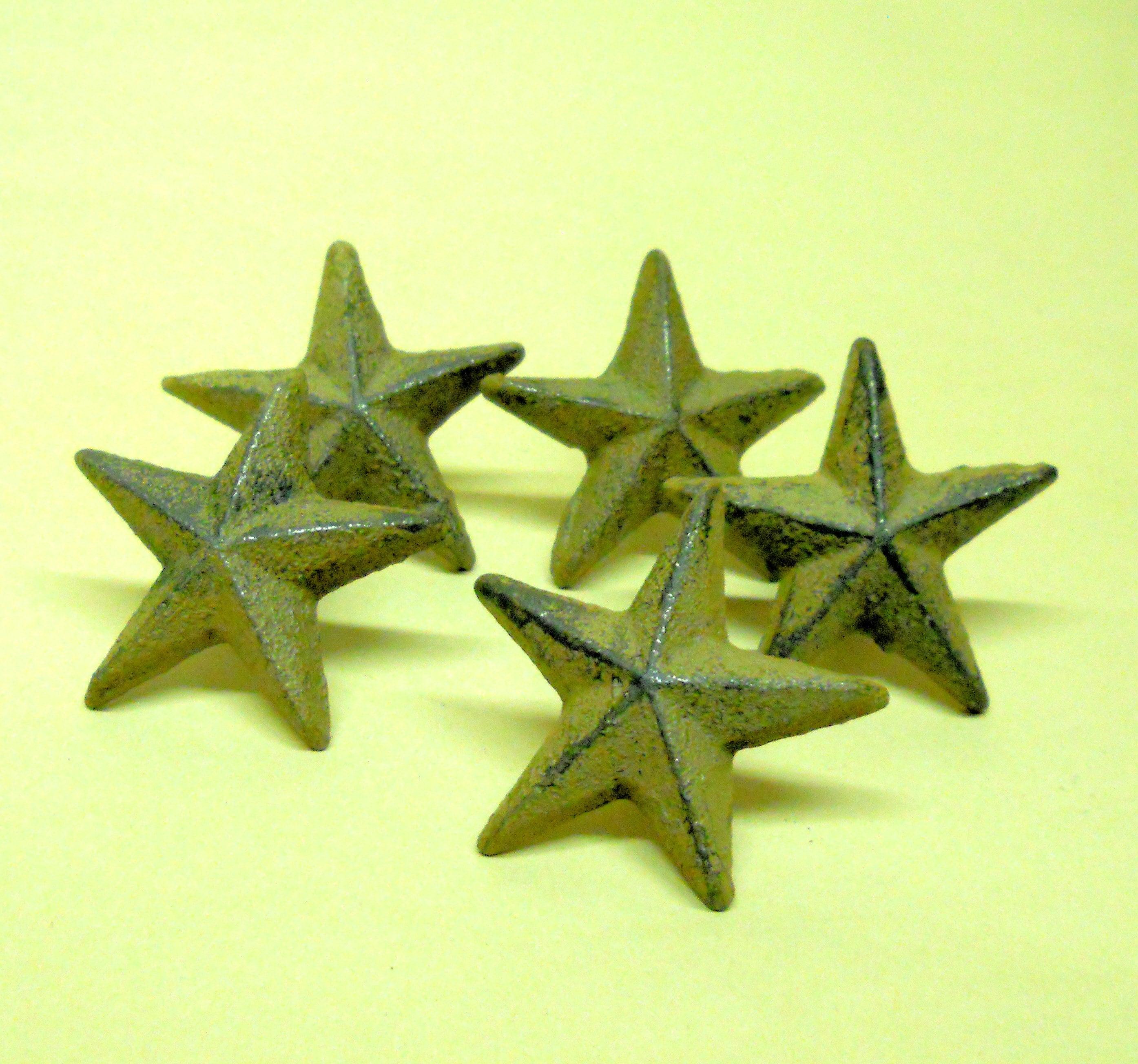 40 pc por mayor Set de uñas de hierro fundido de estrellas