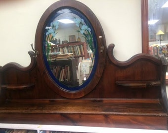 Fireplace mantle shelf with mirror by Catalina furniture