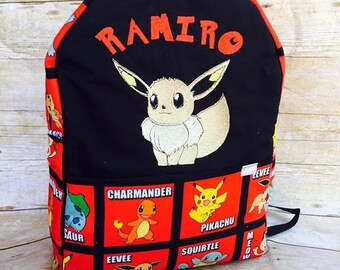 Pokemon Backpack (100% made from scratch)