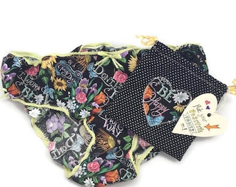 Positive Pants! Ladies cotton knickers, positive panties, motivational gift, put your positive pants on, gift for her, uplifting gift