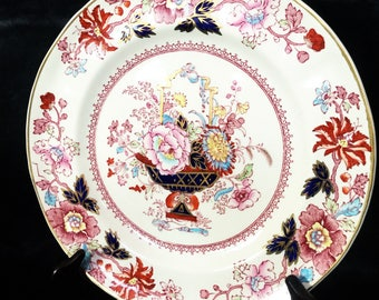 A great English, Mason's, pink and red, display plate