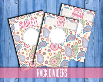 "Clothing Rack Dividers! H O Approved Fonts and Colors! 4x6"" Print Ready; hanger tags; Pop-Up Boutique; clothing dividers; INSTANT DOWNLOAD"