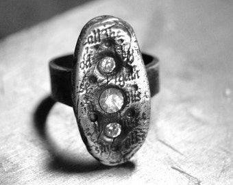 Fine Silver Ring - Ancient Message