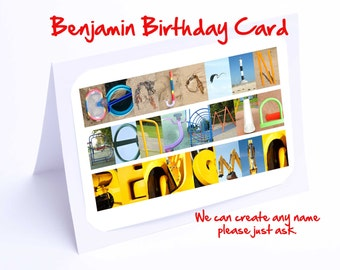 Benjamin Personalised Birthday Card