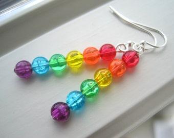 Rainbow Earrings - Rainbow Jewelry - Long Earrings - Pride Jewelry - Gay Pride Earrings - LGBT Jewelry - Bright Jewelry - Gift for Her