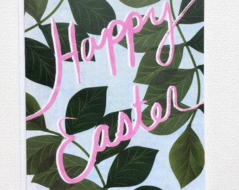 Easter Cards Handmade, Happy Easter, Blank Greeting Cards, Vine and Branches