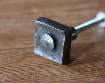Cabinet Pull - Hand Forged Tenon Knob - Drawer Hardware