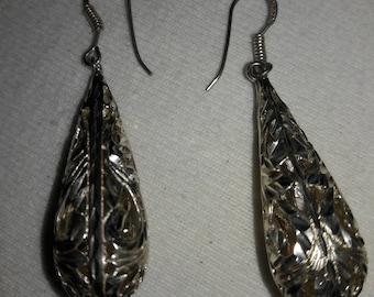 925 IF Sterling Silver Vintage Pierced Earrings