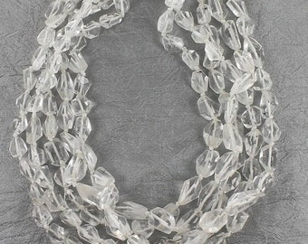 BeAdS SaLe : ) QUARTZ CRYSTAL Faceted Beads Freeform