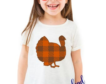 Toddler Thanksgiving plaid turkey shirt outfit svg, toddler turkey shirt svg, svg, SVG, dxf, eps, silhouette, cricut, SVG files