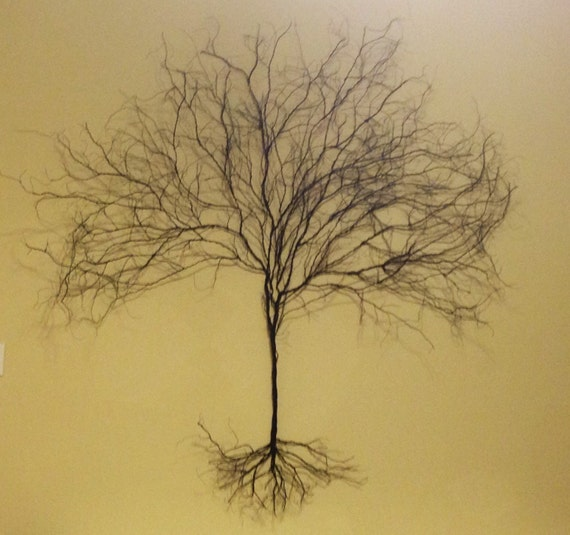 Wire Art Original LARGE Modern 3D Wire Tree Wall Hanging