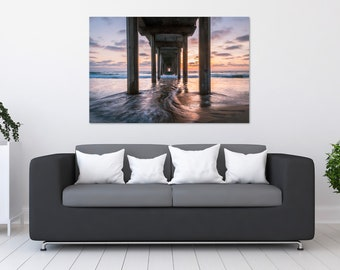 San Diego Pier Sunset Photo Print | Wall Art | Nature and Landscape Photography | (5x7, 8x10, 12x18, 16x24, 20x30, 24x36, 40x60)