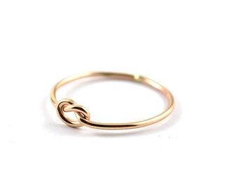 Gold filled knot ring -  GF skinny ring -  love knot gold ring -  simple knot ring -  14k gold filled