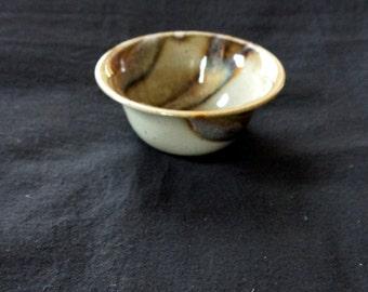 Art object AR ceramic handmade bowl, beautiful colouring
