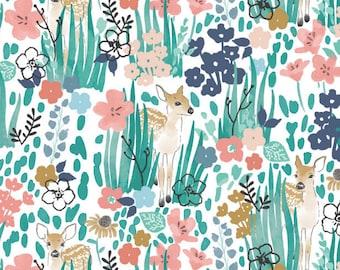 Deer Crib Bedding FAWN Changing Pad Cover / Crib Sheet Girls/ Mini Crib Sheet / Pink Woodland Nursery Baby Bedding Set / Fitted Baby Sheet