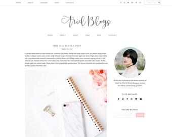 "Responsive Blogger Template ""Ariel"" - Feminine Blogger Theme"