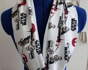 Star - wars  - bb8 - rey - the - force - awakens - single - loop - infinity - scarf