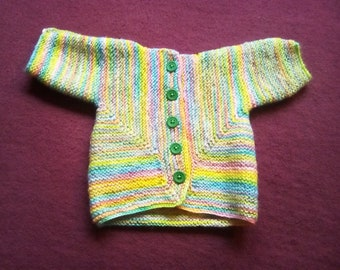 Newborn size baby sweater