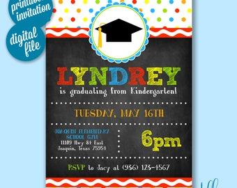 Kindergarten Graduation Invitation Graduation Invitation