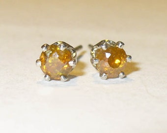 Natural Sphalerite Stud Earrings -  Genuine Gemstones in Solid Sterling Silver
