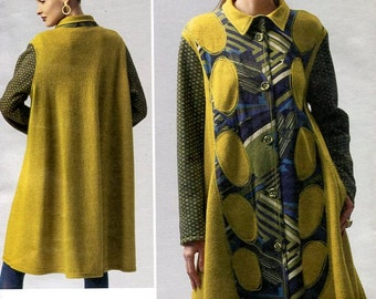FREE US SHIP Vogue 1331 Koos Couture High Fashion Funky Quilt Flared Coat 2012 Size 6 8 10 12 14 Bust 30.5 31.5 32.5 34 36  Sewing Pattern
