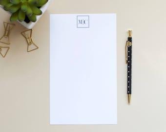 Personalized Monogram Notepad | Initial Notepad | Custom Notepad | Mens Notepad