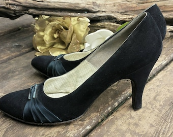 Saks fifth avenue pumps from the 50's/saks fifth avenue/vintage pumps/vintage high heels/womens high heels/bridesmaid shoes/prom shoes/heels