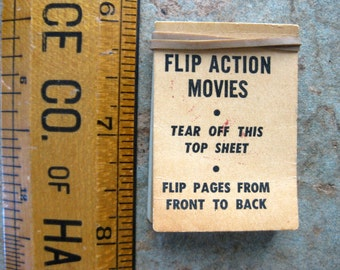 Vintage Flip Action Movies Flip Book, Punchy and the Punching Bag