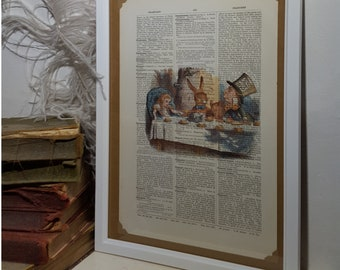 The Mad Hatter's Tea Party dictionary print