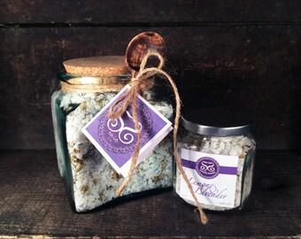 Lemon & Lavender Bath Salts Gift Jar w/Spoon