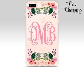 iPhone 8 Plus Case MONOGRAM iPhone X Case iPhone 7 Plus Case iPhone 6s Plus Case iPhone 6 Plus Case iPhone 8 Case iPhone 7 Case Gift for Her