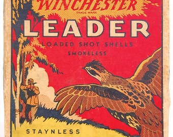 Winchester LEADER Staynless series ~ vintage mini shot shell box reproduction