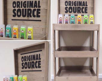 Rustic wooden FSDU, Free standing display unit, retail display unit, Free delivery to mainland UK
