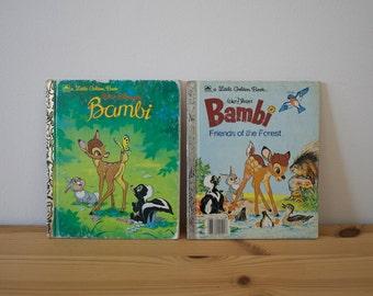 S A L E Vintage Bambi books Little Golden Books