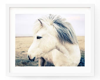 Horse Art Print - Animal Photography - Retro Feel Print - Bohemian Horse