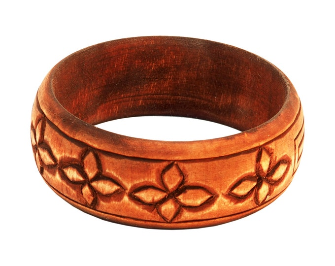 Wooden Jewelry Hand Carved Bracelet No 3