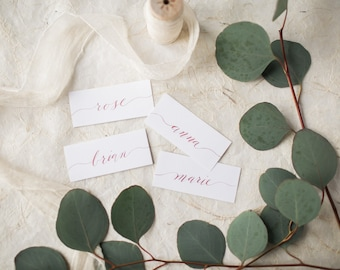 Custom Calligraphy Place Cards