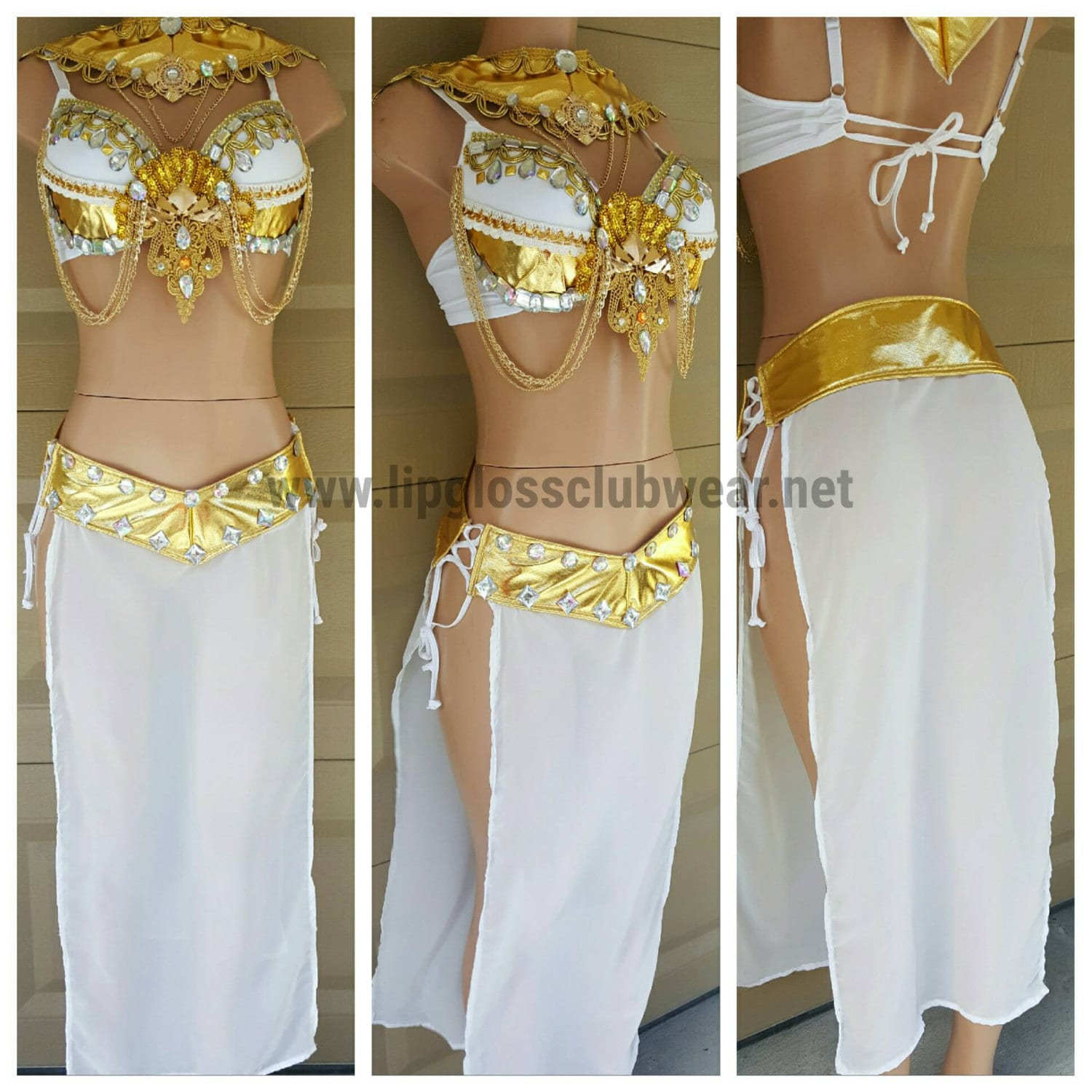 golden costume pc goddess gold sexy white m
