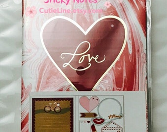 Love Sticky Notes by Recollections - 160pc/pack - Page Marks/Sticky Pads/Page Notes
