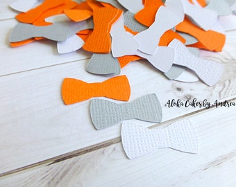 Bow Tie Confetti, Baby Shower Decorations, Orange Gray White, Its A Boy, Little Man Party Ideas, First Birthday, Table, 1 inch Set of 200
