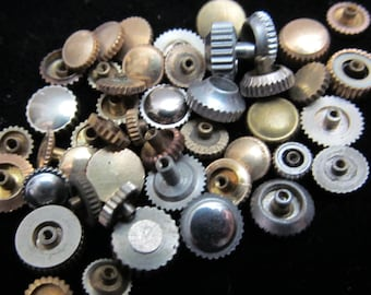 Destash Vial Watch Parts crowns Assemblage Industrial Altered Art Steampunk Charms IV 8