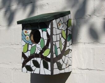 Mosaic bird box