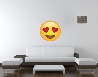 Heart Eyes Emoji Vinyl Wall Decal