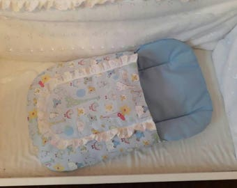 Nursery cotton  dolls Sleeping bag suitable up to baby Annabel and baby new born dolls
