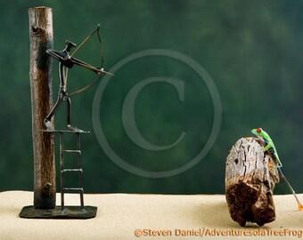 Frog Hunting, Bow Hunter, Hunting Art, Hunting, Bow and Arrow