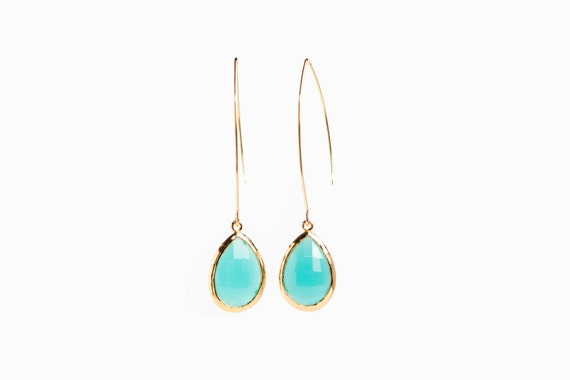 Long Turquoise Earrings