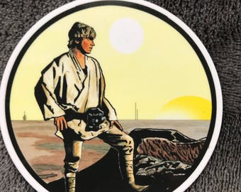 Luke Skywalker STAR WARS Waterproof Sticker