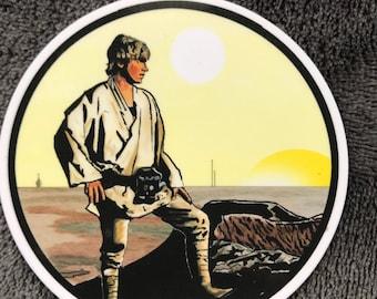 STAR WARS Luke Skywalker Waterproof Sticker