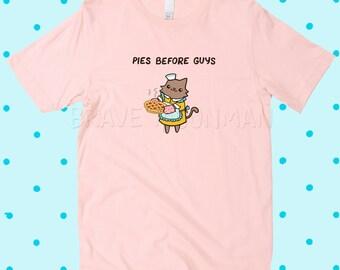 Lustige Shirts für Frauen süße Zitat Shirts Torten vor Jungs T-Shirt mit Spruch T-Shirts Katzen T-Shirt Frauen Girl Power TShirt